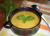 Krémová polévka z mrkve a fenyklu