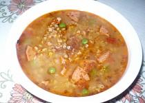 Pohanková polévka s uzeným masem