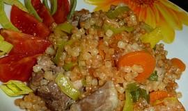 Kuře s mrkví, pórkem a  tarhoňou