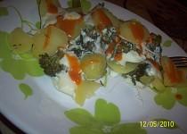 Pařené brambory s brokolicí a sýrem  (Parní hrnec)