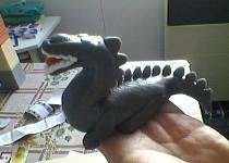 Dinosauři a krtek aktovka-dort