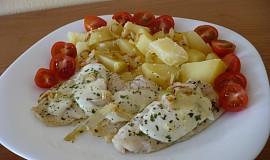Filé s rajčátky a mozzarellou