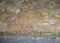 Rychlý rebarborový koláč s celozrnnou moukou