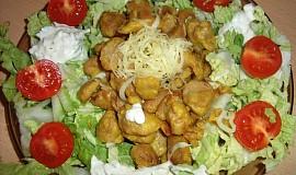 Sójové maso se zeleninovým salátem