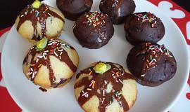 Veselé muffiny s čokofloky