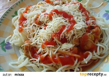 Špagety s pórkem a bylinkami