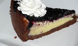Borůvkový koláč s krémem