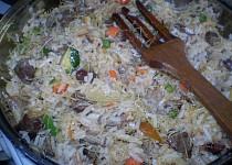 Srdíčková rýže s vlasovými nudlemi