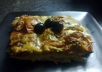 Lasagne se slaninou a žampiony