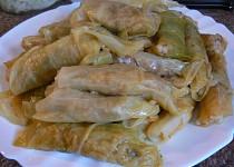 Mahshi cromb - plněné zelné listy směsí rýže (egyptský recept)