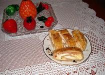 Závin z listového těsta na slano