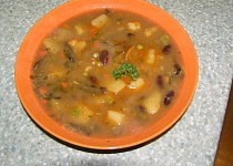 Houbovo-fazolová polévka