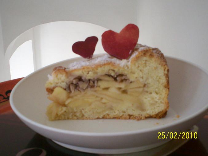 Jablecny kolac z krehkeho jogurtoveho testa, Dobrou chut
