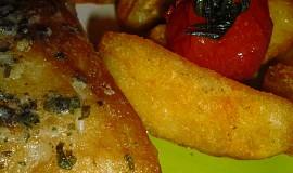 Okoun nilský s bylinkovým máslem