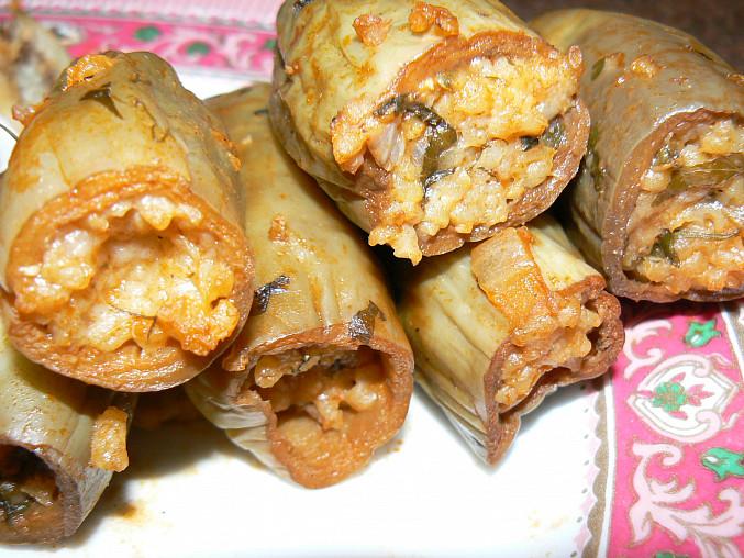 Mahshi v baklažáne (egyptský recept), Mahshi v baklažánoch