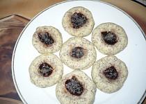 Makové koláčky s marmeládou