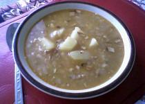 Fazolová polévka s angl. slaninou