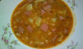 Polévka fazolková - bílé fazolky