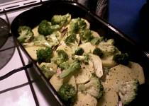 Zapečená brokolice s bešamelem