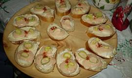 Jarní obložené chlebíčky