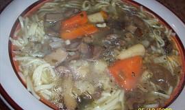 Houbovo-nudlová Vánoční polévka