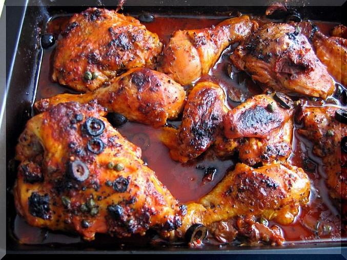 Kuře s vůní Itálie, upečeno