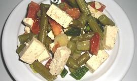Salát ze zelených fazolek