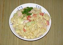 Těstovinový salát ze zbytků