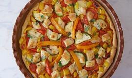 Čtyřbarevná pizza