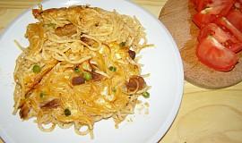 Zapékané špagety s vepřovým masem