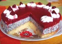 Tvarohový  dort s mákem