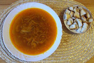 Cibulová polévka s česnekem