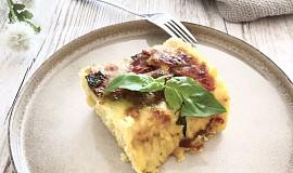 Zapečená polenta s mozzarellou a rajčaty
