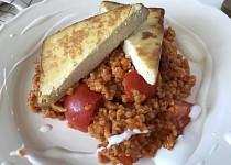 Rajčatový bulgur s tofu