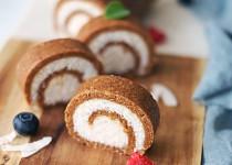 Zdravá kokosová roláda
