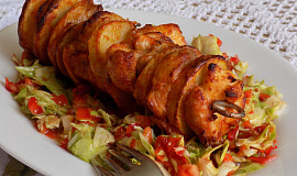 Bramborovo-kuřecí špízy z horkovzdušné fritézy