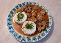 Krkovice na houbách s rýží