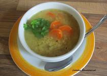 Polévka z červené čočky s mrkví