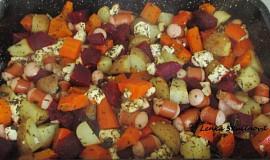 Zapečená zelenina s párkem