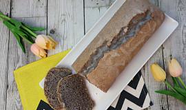 Bílkový chlebíček s mákem a citronovou polevou