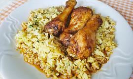 Marinované kuřecí paličky s kari rýží