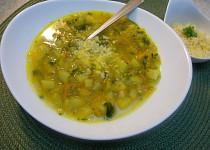 Polévka se zeleninou a sýrem