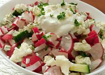 Ředkvičkový salát s Nivou