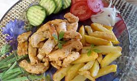 Bylinkové kuřecí hranolky