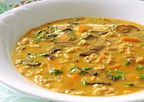 Rychlá ovesná polévka s houbami