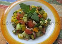 Zeleninový salát s mátou