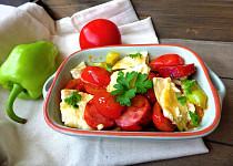 Trhaná omeleta s lečem