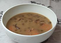 Čočkovo-houbová polévka