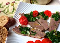 Vařené hovězí s gremolatou a rajčaty