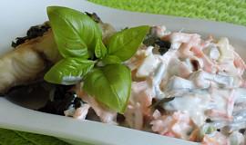 Fazolkový salát s rybou